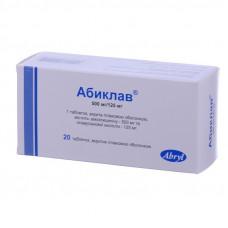 Абиклав таблетки500 мг/125 мг №20