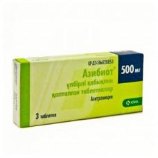 Азибиот 500мг таблетки №3