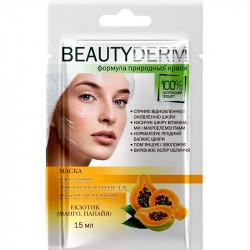 BEAUTY DERM маска экспресс увлажнение и восстановление (манго, папайя) 15мл
